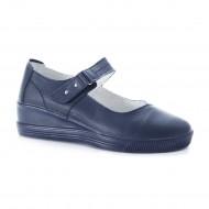 Pantof de zi cu talpa plina si platforma in fata, culoare bleumarin