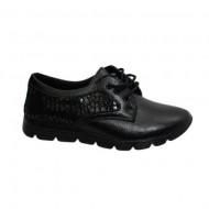Pantof sport, negru, cu design de buline lucioase in lateral