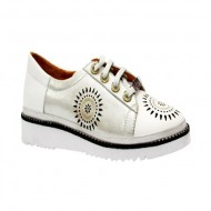 Pantof tineresc cu siret reglabil si design deosebit din perforatii