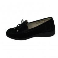 Pantofi tip mocasin cu insertie de elastic ,Negru