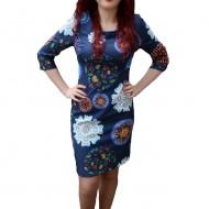 Rochie dama moderna, nuanta de multicolor, design trendy