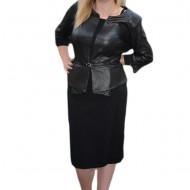 Rochie deosebita din tesatura moderna cu aspect de piele neagra