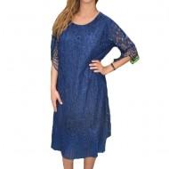 Rochie eleganta Eleanor din dantela,nuanta de bleumarin