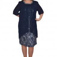 Rochie eleganta Kayla cu aplicatii de margele,nuanat de blemarin