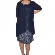Rochie eleganta Kayla cu aplicatii de margele,nuanta de blemarin