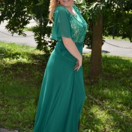 Rochie feminina, lunga de seara, de nuanta verde, masura mare