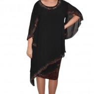 Rochie Lovisa in nuanta de negru cu aplicatii de strasuri