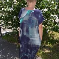 Rochie lunga casual de culoare bleumarin