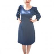 Rochie shic, de culoare bleumarin, midi