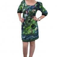 Rochie trendy, multicolora, cu sistem de inchidere cu fermoar