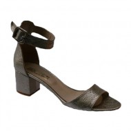 Sandale comode cu toc auri