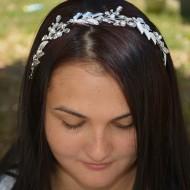 Agrafa eleganta tip coronita eleganta cu perle si strasuri fine