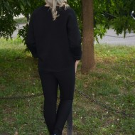 Bluza casual, de culoare neagra, marime universala