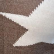 Bluza in tendinte, maro cu imprimeu de stele mari, albe in fata