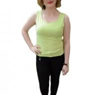Bluza verde deschis, din material elastic cu model imprimat