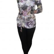 Bluze cu maneca lunga, cu imprimeu floral multicolor deosebit