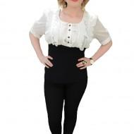 Bluze de ocazie, design elegant, de culoare alb-negru