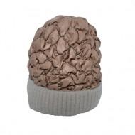 Caciula Senny calduroasa ,model matlasat lucios,nuanta de maro