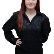 Camasa clasica, masura mare, de culoare neagra cu imprimeu
