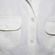 Camasa de birou, nuanta de alb, buzunare aplicate, nasturi fini