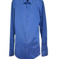 Camasa slim pentru barbati, culoare albastra cu imprimeu discret