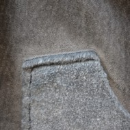 Cardigan tip vesta Katty din piele intoarsa,croi lejer,nuanta de gri inchis