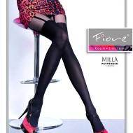 Ciorap pantalon de dama, nuanta neagra, model de dunga