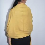 Esarfa tip sal casual toamna-iarna cu franjuri ,nuanta galben
