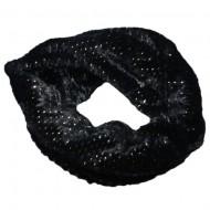 Fular Ioda circular cu insertii de paiete,nuanta de negru