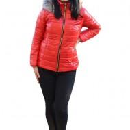 Jacheta casual Anca,scurta,model luicios,nuanta de rosu