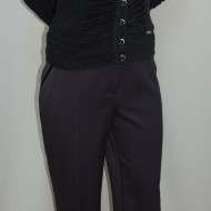 Pantalon elegant, nuanta de gri, buzunare laterale