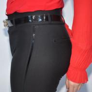 Pantalon elegant Yava cu insertii de strasuri,negru