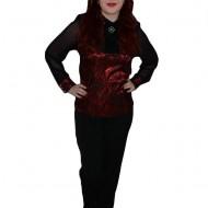 Pantalon la moda, de culoare neagra, material lucios