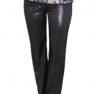 Pantaloni lungi deosebiti, culoare neagra cu fir lame, la promotie