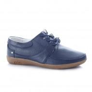 Pantof din piele naturala mata, culoare bleumarin, model clasic
