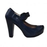 Pantof rafinat cu toc inalt, bareta peste picior, nuanta bleumarin