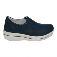 Pantof trendy cu talpa groasa si insertie de elastic, bleumarin