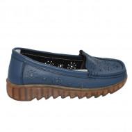 Pantofi perforati cu model si talpa deosebita,bleumarin