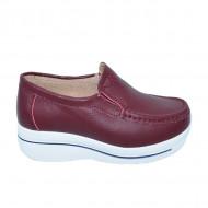 Pantofi visinii cu talpa ortopedica ,din piele,model simplu
