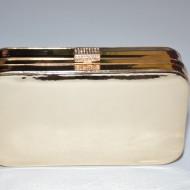 Poseta tip clutch,model oglinda,cadru metalic, nuante auriu,argintiu,pudra