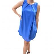 Rochie de vara Aase cu aplicatii de voal ,nuanta de albastru