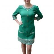 Rochie deosebita, nuanta de verde, design brodat rafinat