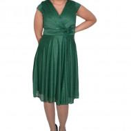 Rochie eleganta Caliope ,aplicatii de margele nuanta de verde