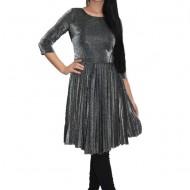 Rochie eleganta de petrecere ,nuanta argintiu