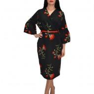 Rochie eleganta ,nuanta neagra si imprimeu cu flori