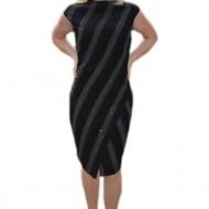 Rochie feminina cu croiala cambrata, nuanta neagra, masura mare