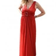 Rochie fermecatoare de ocazie, pe culoare rosie, design simplist