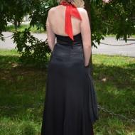 Rochie fermecatoare de seara, culoare rosu-negru