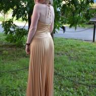 Rochie lunga de seara, eleganta , tinereasca aurie