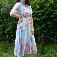 Rochie Naomi,imprimeu floral,multicolor